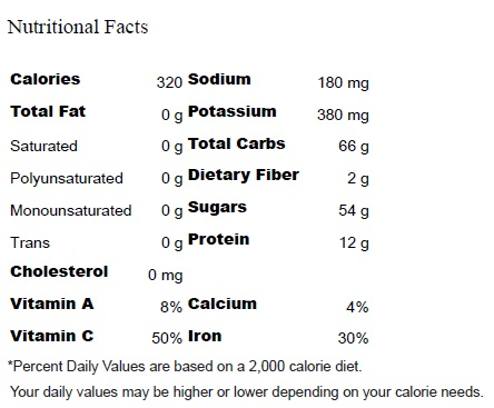 Green Protein - Nutritional Facts
