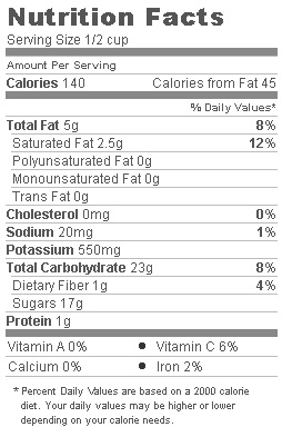 Trader Joe's Vacuum Fried Banana chips - Nutritional Facts