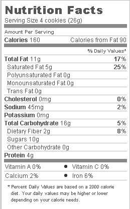 Trader Joe's Dark Chocolate Covered Peanut Butter Wafer Cookies - Nutritional Facts