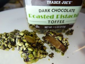 Trader Joe's Dark Chocolate Roasted Pistachio Toffee