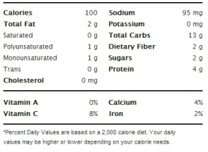 Better N' Peanut Butter - Nutritional Information