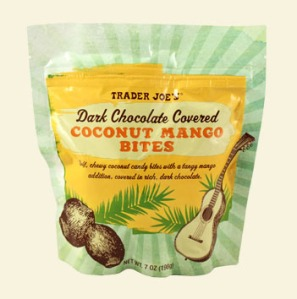 Trader Joe's Dark Chocolate Covered Coconut Mango Bites