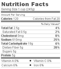 Trader Joe's Minestrone Soup - Nutritional Information