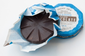 Trader Joe's Organic Stone Ground Salt and Pepper Dark Chocolate