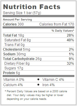 Trader Joe's Peanut Butter and Jelly Milk Chocolate Bar - Nutritional Information
