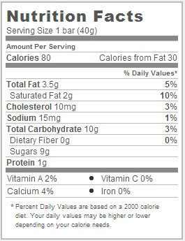 Trader Joe's Raspberry and Vanilla Cream Bars - Nutritional Facts