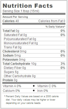 Trader Joe's Balsamic Glaze - Nutritional Facts