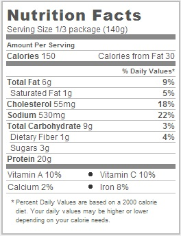 Trader Joe's Grilled Chicken Cacciatore - Nutritional Facts