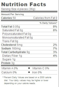 Trader Joe's Chicken Cilantro Mini Wontons - Nutritional Facts