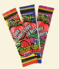 Trader Joe's Organic Fruit Wraps - Apple-Strawberry, Apple-Blueberry, Apple-Strawberry