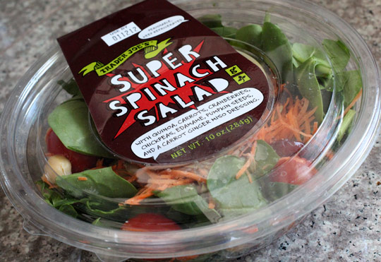 Trader Joe S Super Spinach Salad Eating At Joes