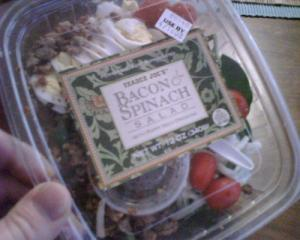 Trader Joe's Bacon and Spinach Salad