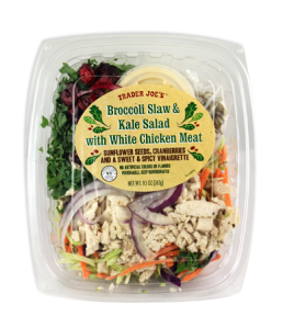 Trader Joe's Broccoli Slaw and Kale Salad With White Chicken Meat