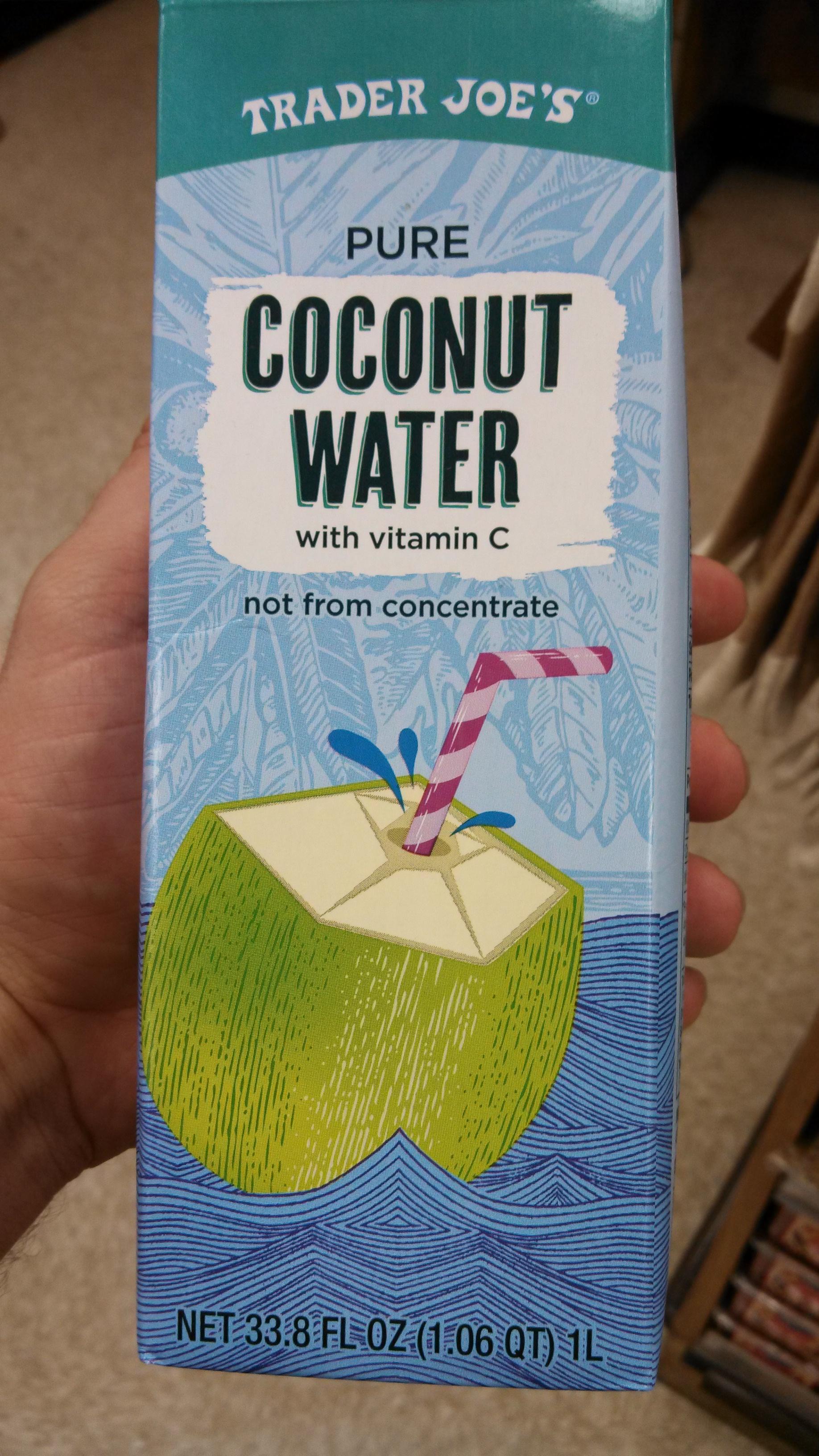 Trader Joe\'s Pure Coconut Water | Eating At Joes