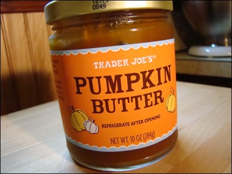 Pumpkin butter coming at you at a dutch angle! Whoa – look out!