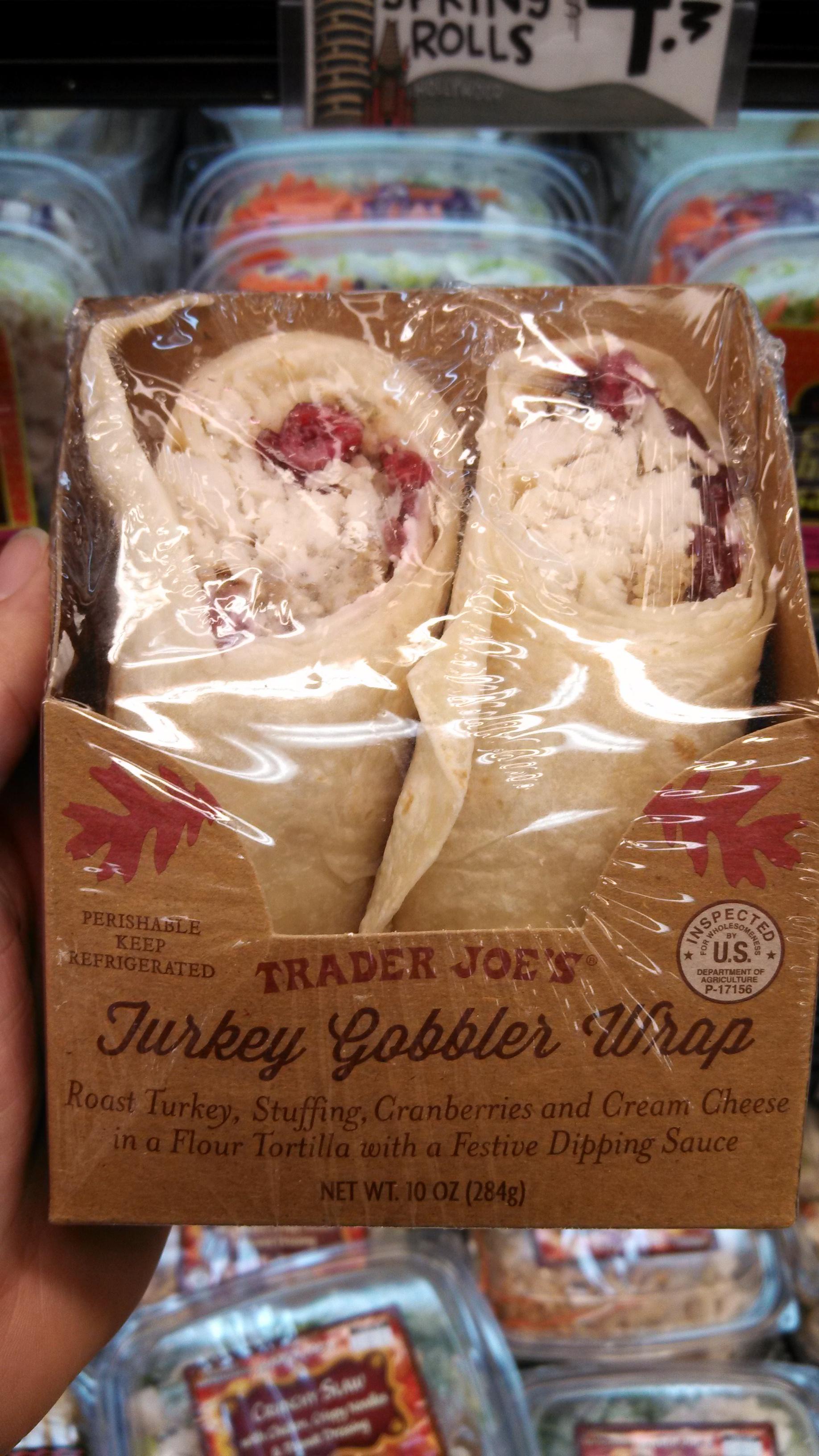 Trader joe s turkey gobbler wrap eating at joes for Trader joe s fish