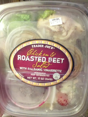 Trader Joe's Roated Beet and Chicken Salad