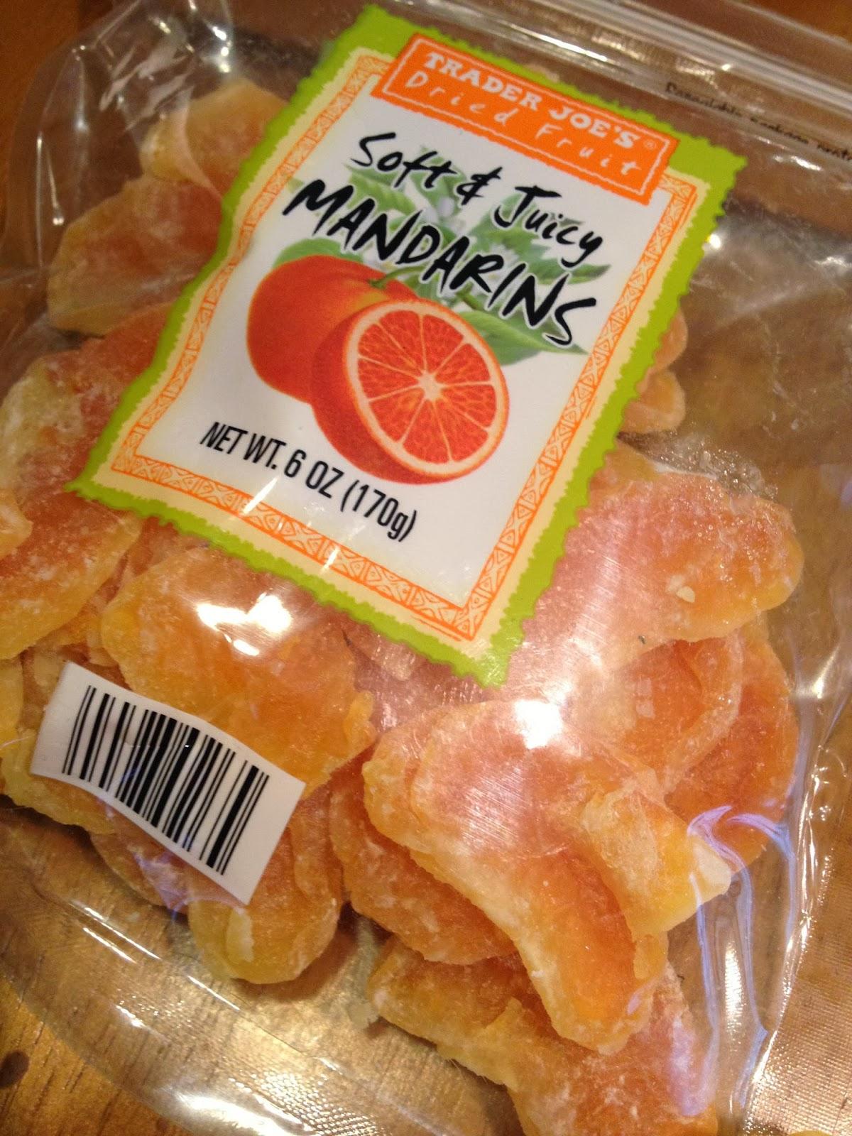 Trader joe s dried fruit soft and juicy mandarins for Trader joe s fish