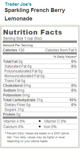 Minute Maid Light Lemonade Nutrition Label Www Lightneasy Net