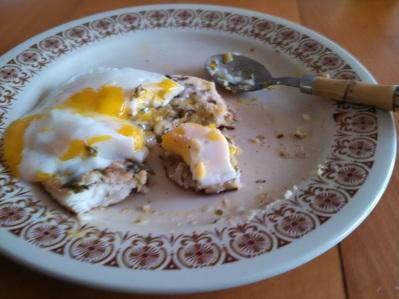 Uttapam with egg