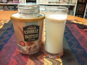 Trader Joe's Salted Cookie Butter Ice Cream Shake