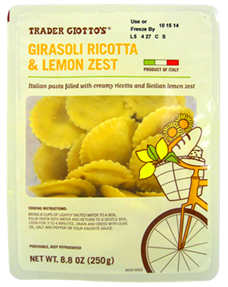 Trader Joe's Girasoli Ricotta and Lemon Ravioli