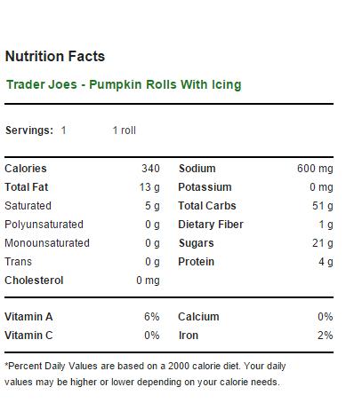 Trader Joe S Pumpkin Rolls With Pumpkin Spiced Icing Eating At Joes