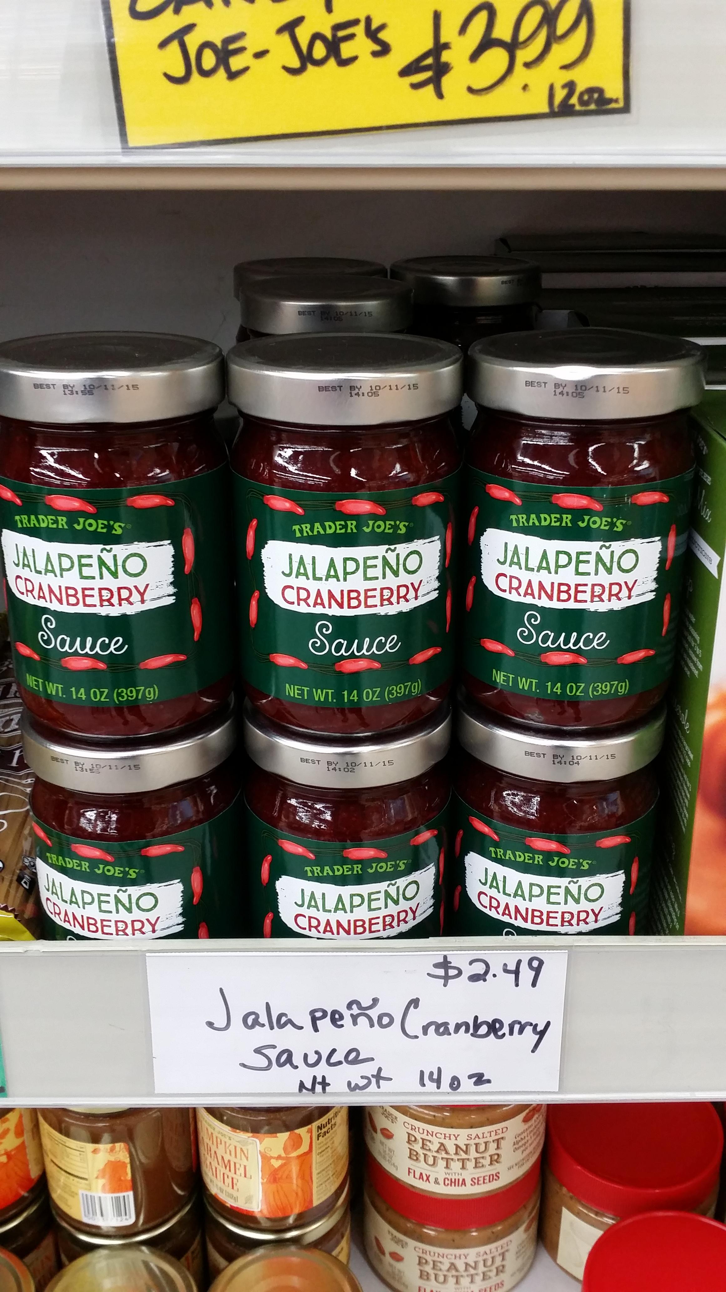 Trader joe s jalapeno cranberry sauce eating at joes for Trader joe s fish sauce