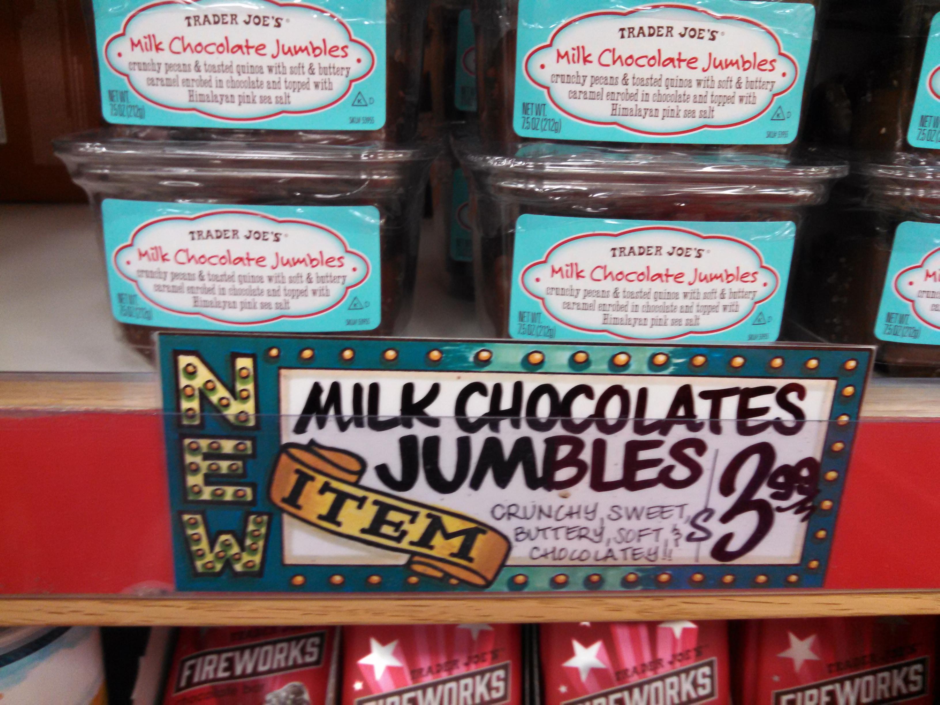 Trader Joe's Milk Chocolate Jumbles   Eating At Joes