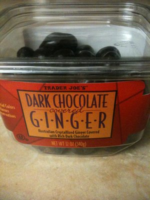 Trader Joe's Dark Chocolate Covered Ginger