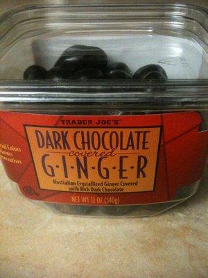 Trader Joe's Dark Chocolate Covered Ginger