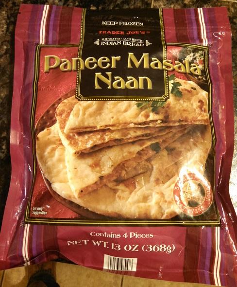 Trader Joe's Paneer Masala Naan