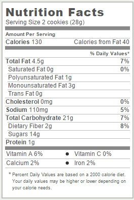 Trader Joe's Soft Baked Snickerdoodles - Nutrition Facts