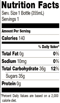 Trader Joe's Brewed Ginger Beer - Nutrition Facts