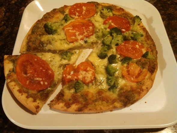 Trader Joe's Organic Pesto Pizza 2