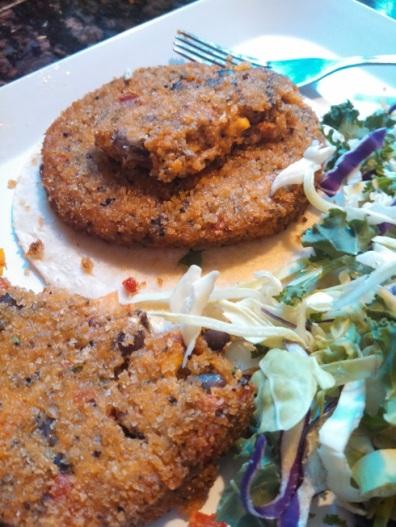 Trader Joe's Quinoa Cowboy Burger 1