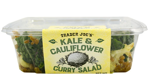 Trader Joe's Kale and Cauliflower Curry Salad