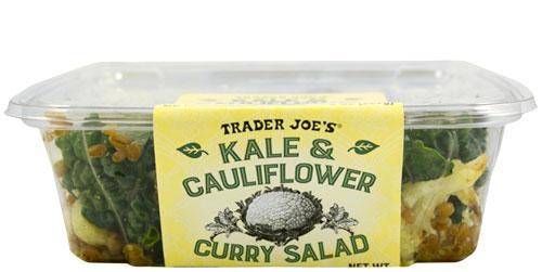 Trader Joe's Kale and Cauliflower Curry Salad