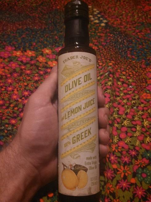 Trader Joe's Olive Oil and Lemon Juice