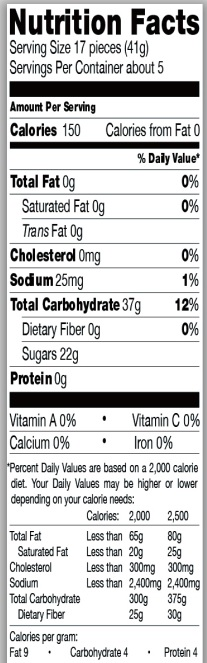 Trader Joe's Sour Gummies Ts & Js - Nutrition Facts