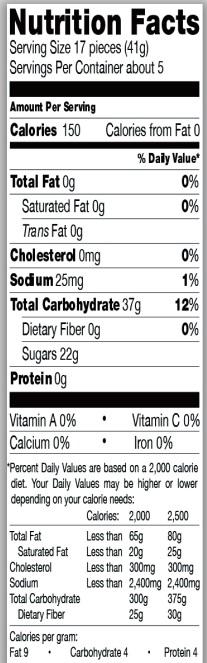 Trader Joe's Sour Gummies Ts & Js - Nutrition Facts