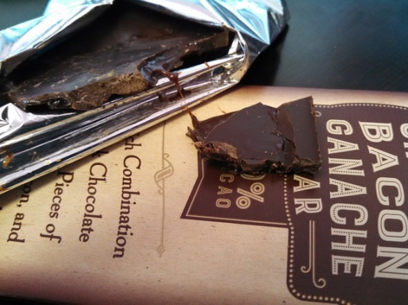 Trader Joe's Uncured Bacon Ganache Bar - 2