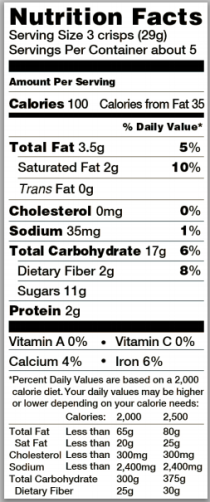 Trader Joe's Brownie Crisps - Nutrition Facts