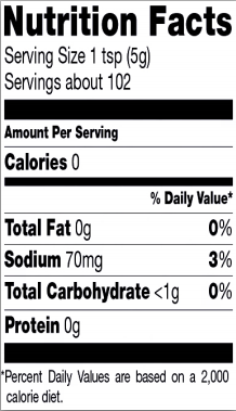 Trader Joe's Green Dragon Hot Sauce - Nutrition Facts
