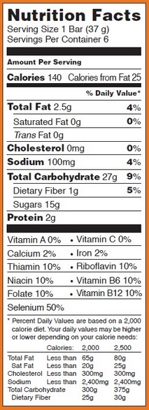Trader Joe's This Pumpkin Walks Into A Bar Cereal Bar - Nutrition Facts