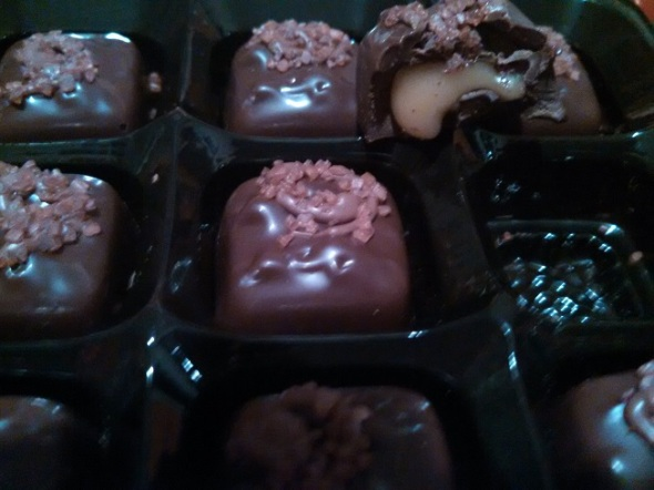Trader Joe's Dark Chocolate Pumpkin-Spiced Salted Caramels 2