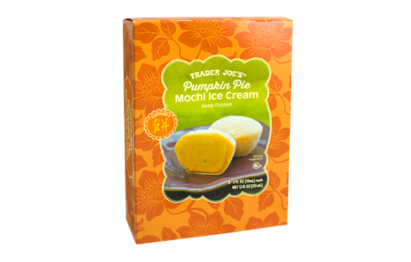 Trader Joe's Pumpkin Pie Mochi Ice Cream 1