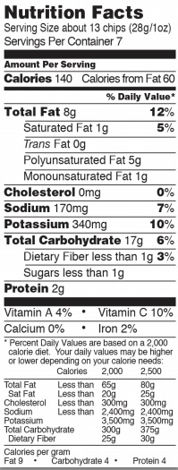 Trader Joe's Ghost Pepper Potato Chips - Nutrition Facts