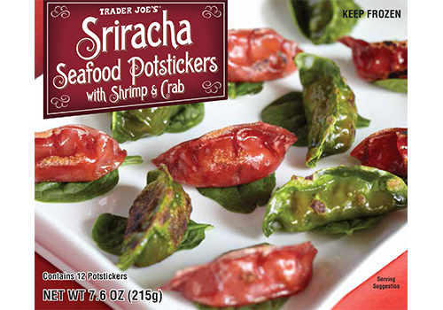 Trader Joe's Sriracha Seafood Potstickers with Shrimp and Crab