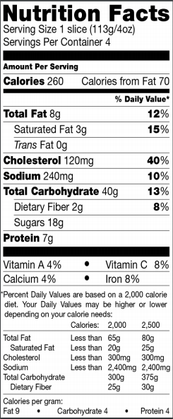 Trader Joe's Panettone French Toast - Nutrition Facts